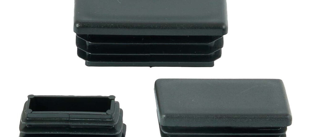 Zaślepki plastikowe na profil prostokątny