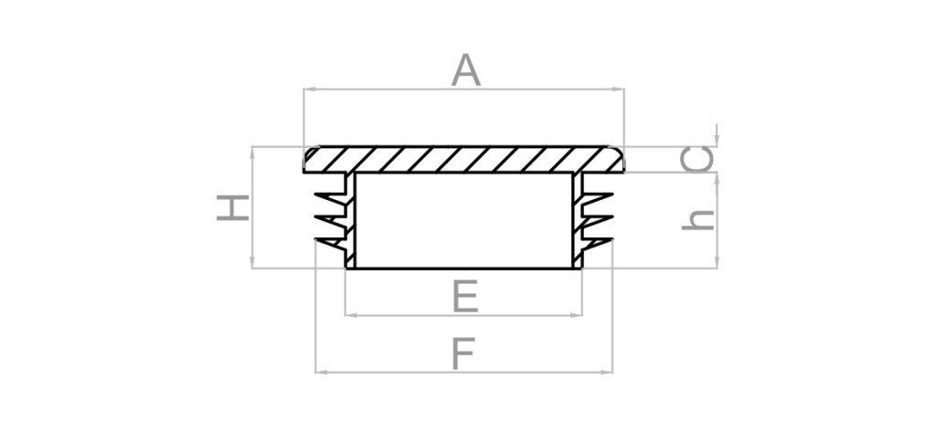 Rys. zaślepka kwadratowa na profil